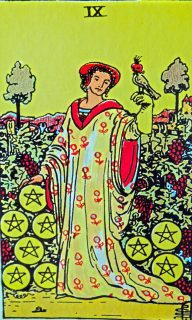 nine of pentacles mundus volubilis