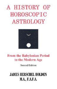 james herschel holden - a history of horoscopic astrology