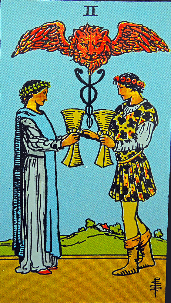Tarot: the two of cups by mundus volubilis